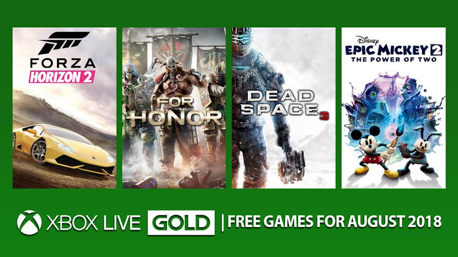 xbox live gold games august 2018