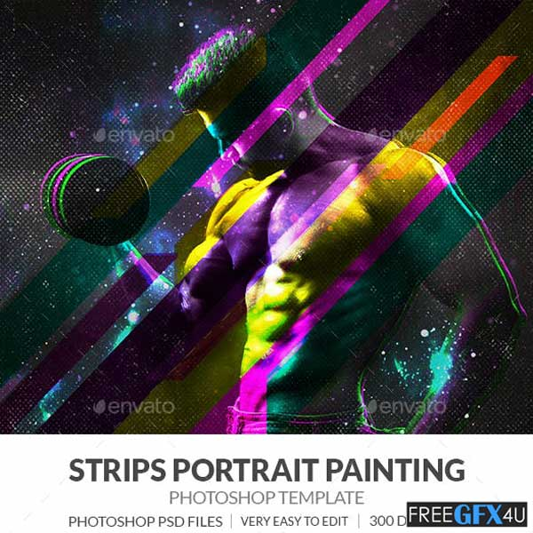 Strips Portrait Painting Effect