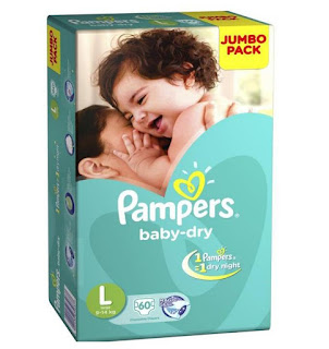 Pampers Large Size Diapers 60 Count