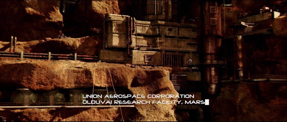 Mars base exterior from Doom movie