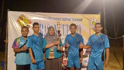 "WOW !! Pertama, Turnamen Sepak Takraw ""PRASAN CUP 2019"" Prapaglor diikuti 68 Team"