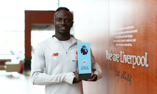 Sadio Mane Wins Premier League Player of the Month Award for November