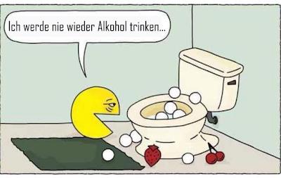 Ich werde nie wieder Alkohol trinken - Comic witzig