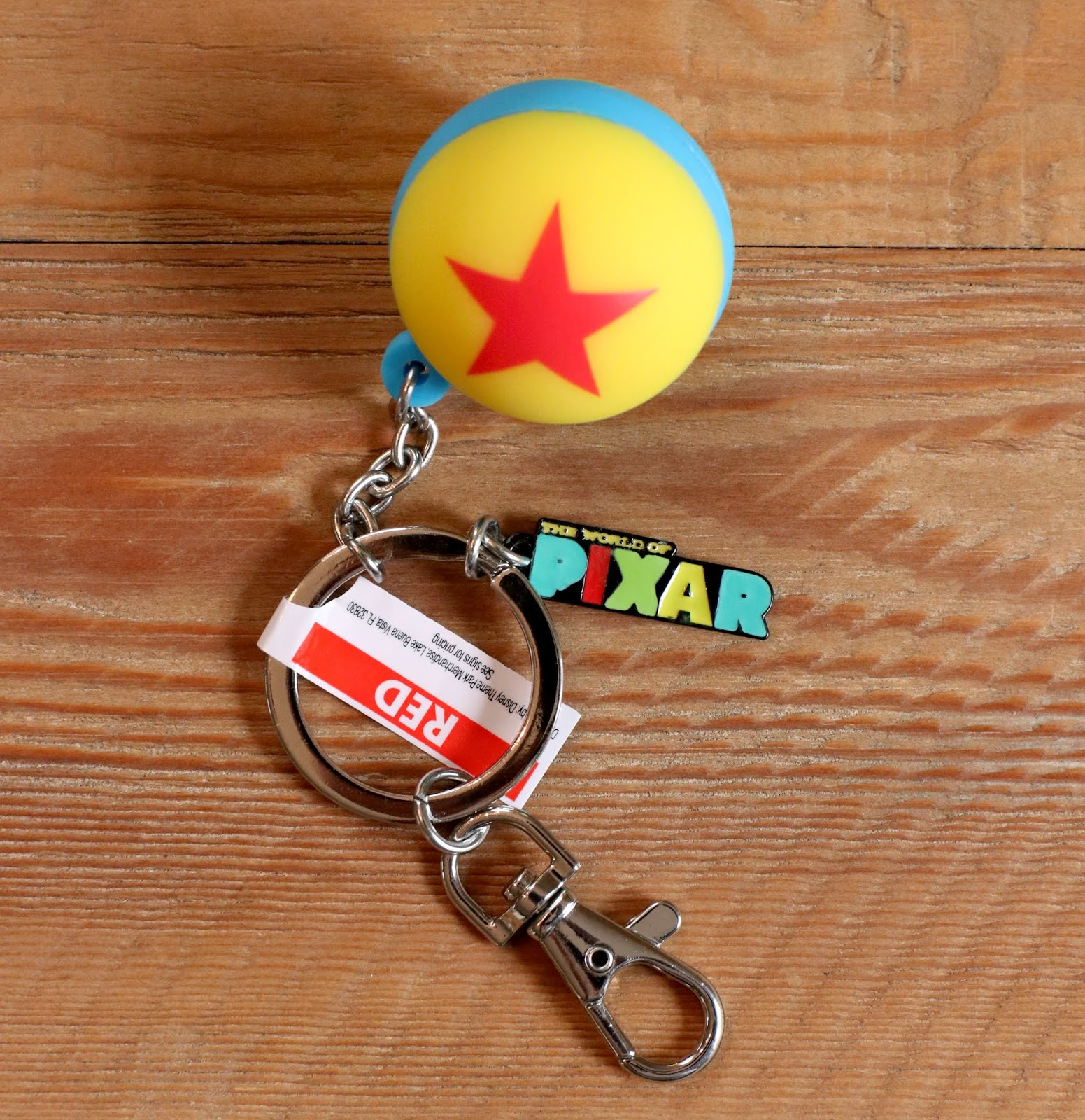 the world of pixar luxo ball keychain