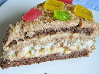 Kamelija torta sa čokoladom sa lešnicima