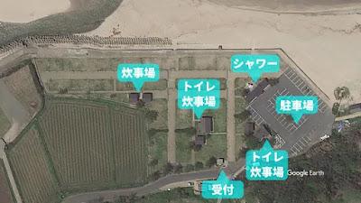 Google Earth オートキャンプ場