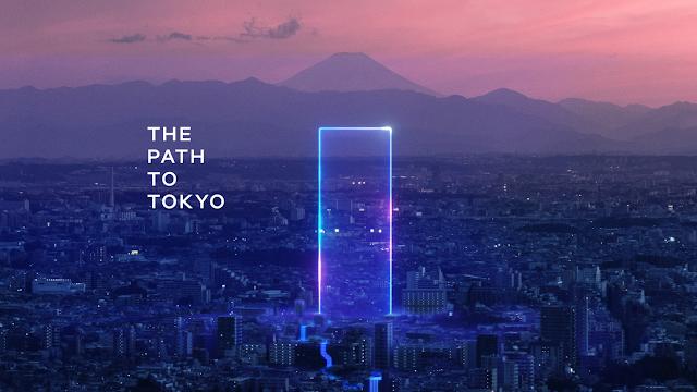 Cidade De Tóquio com Feixe Azul divulgando o Intel World Open