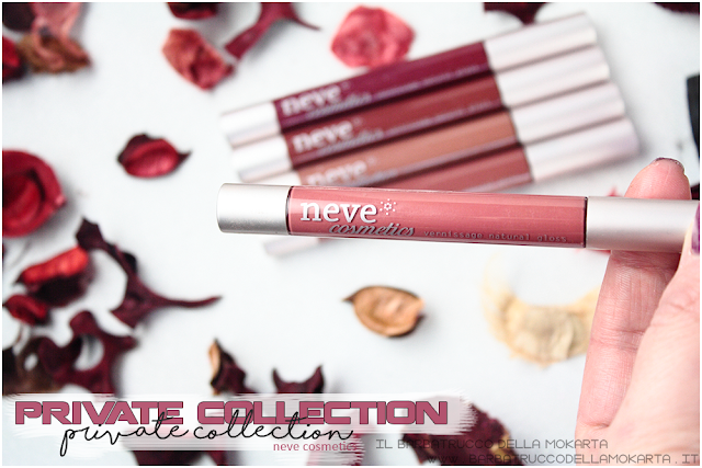 novità vernissage  gloss neve cosmetics , private collection review
