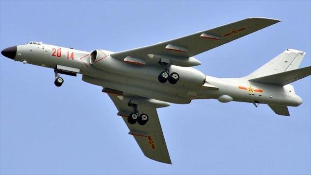 China envía 4 bombarderos H-6 cerca del espacio aéreo de Japón