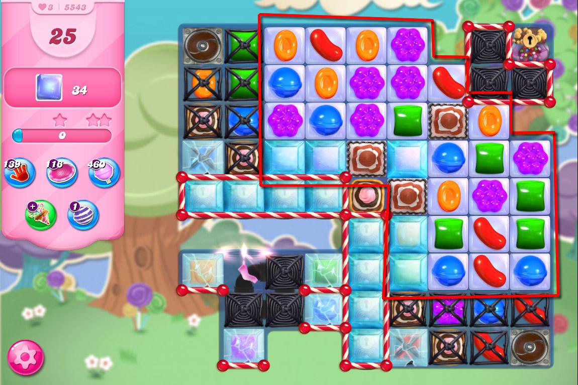 Candy Crush Saga level 5543