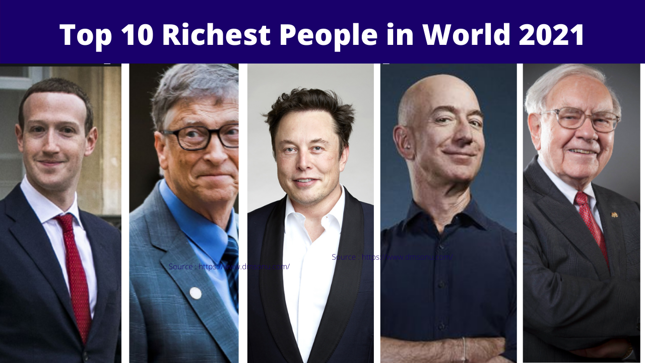 Top 10 Richest Man in The World 2021