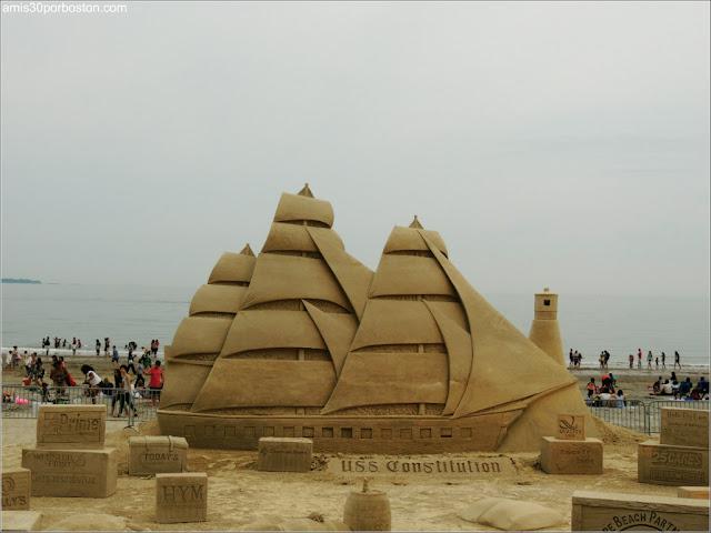 Festival Internacional de Esculturas de Arena de Revere Beach 2017: USS Constitution