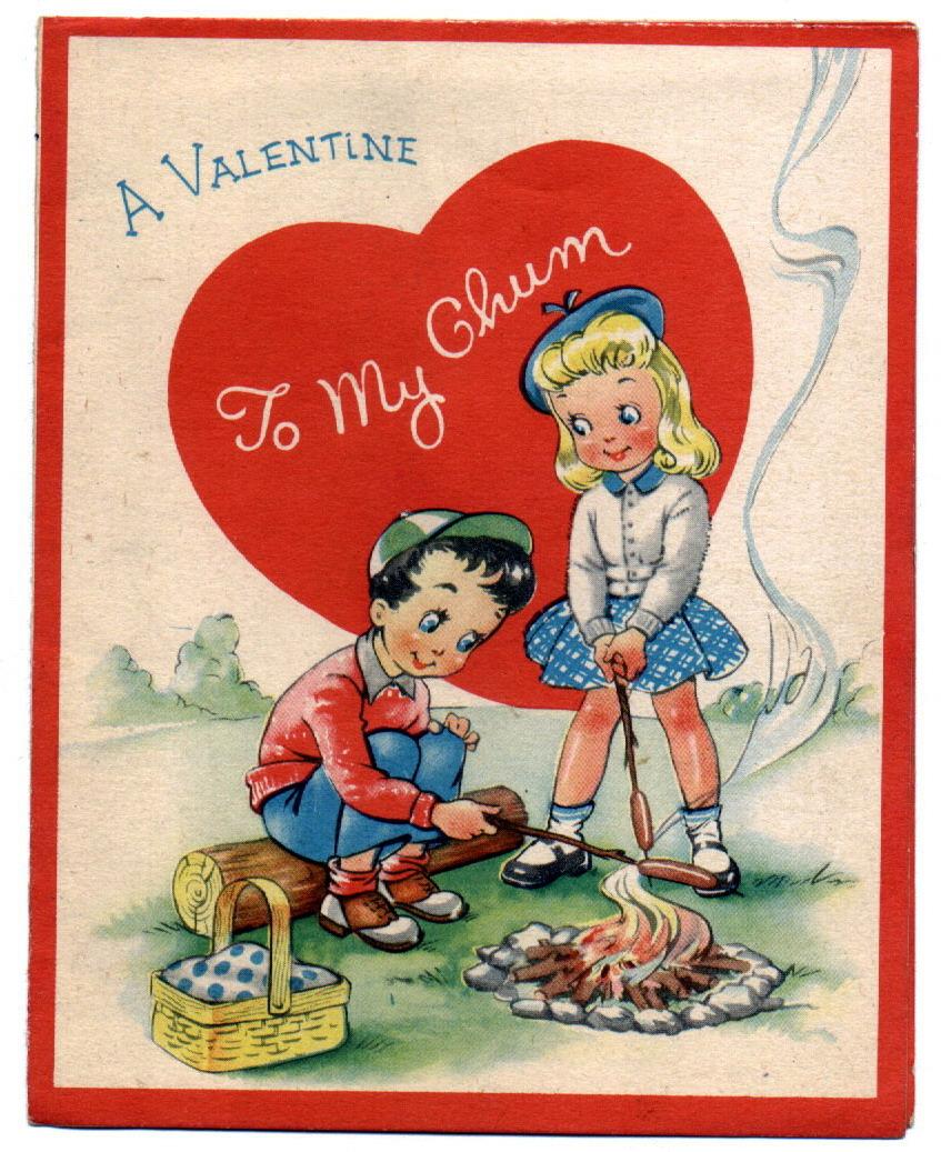 1950's vintage valentine card