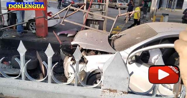 Estalló el tanque de gas de una camioneta de Corpoelec en Valencia