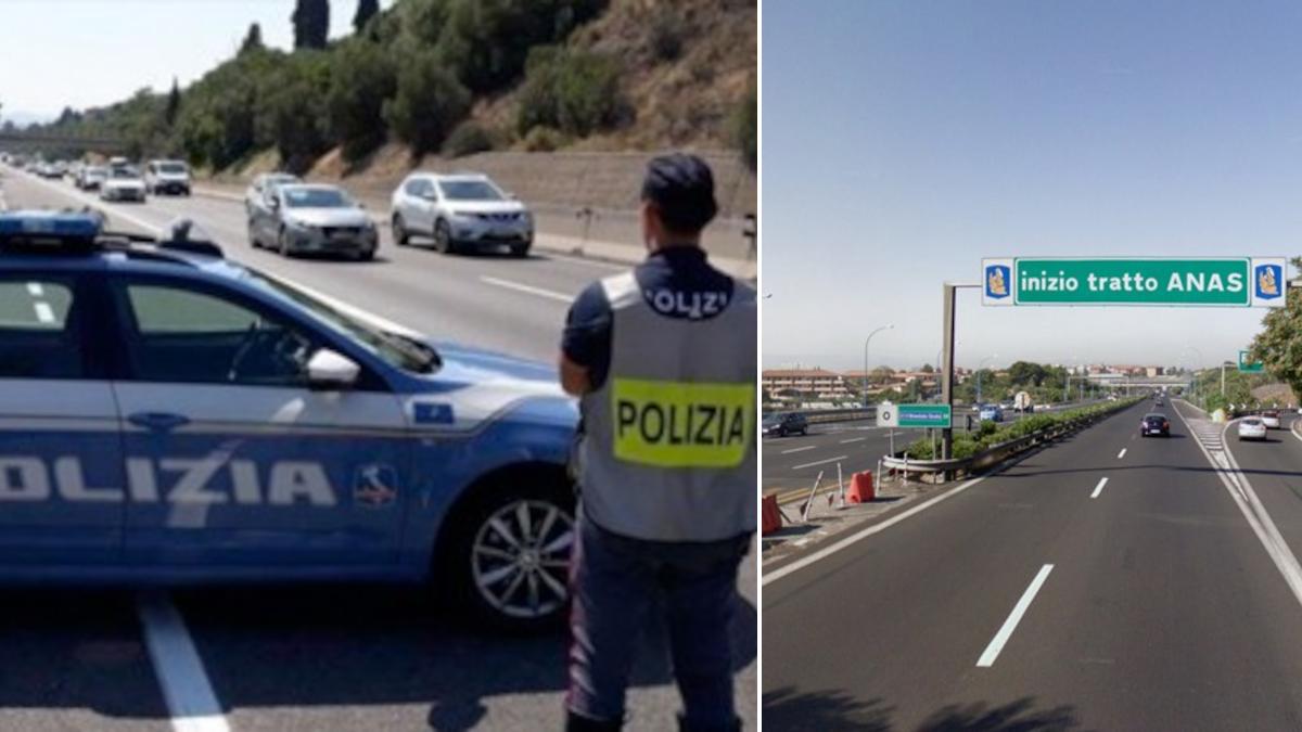 Ritiro patenti furbetti corsia emergenza Polizia Stradale Tangenziale Catania