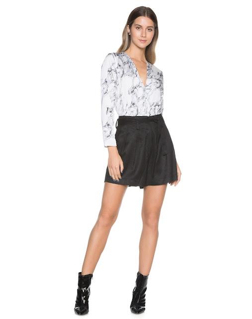 Tendências e estilo shorts linho perfect preto