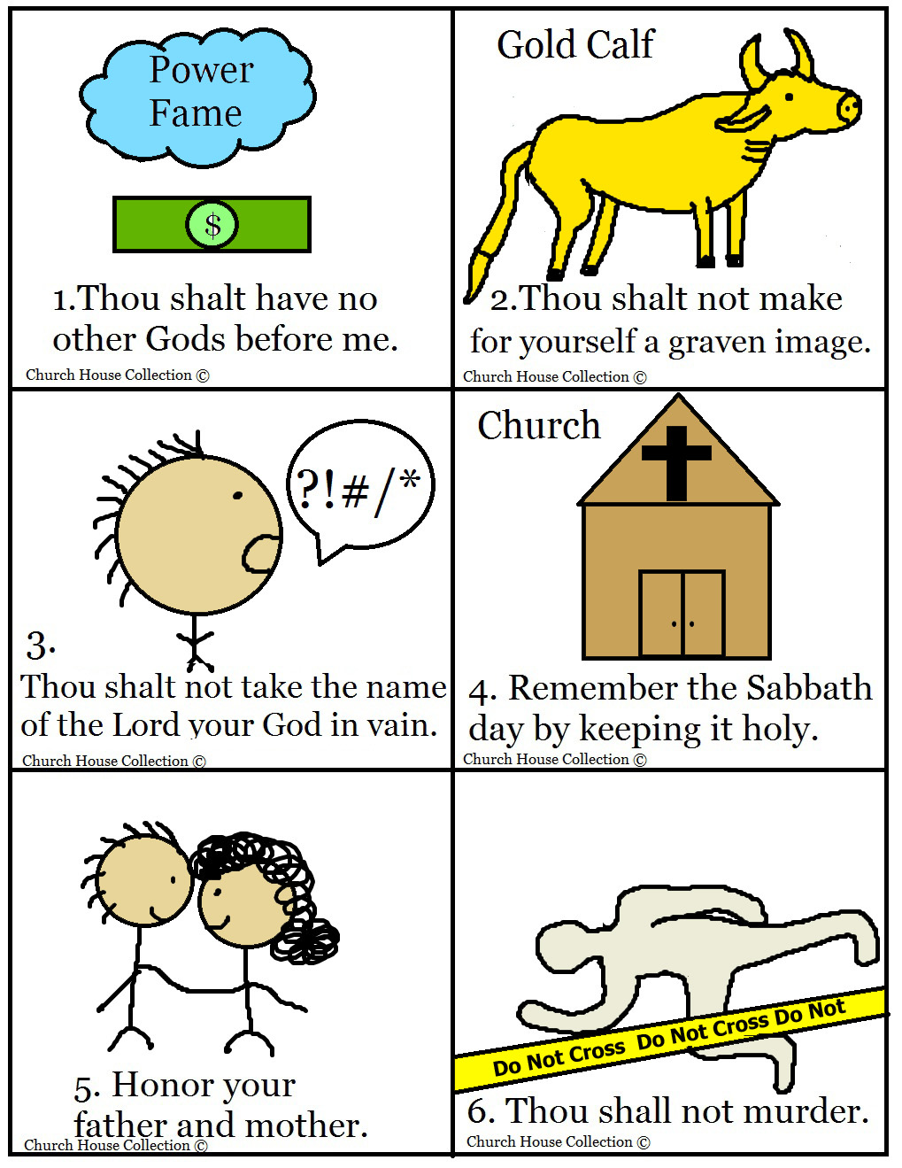 Church House Collection Blog: 10 Commandments Bible Matching Game (Printable)