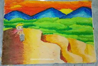 Lukisan Naruto Turun Gunung - Lukisan Maya