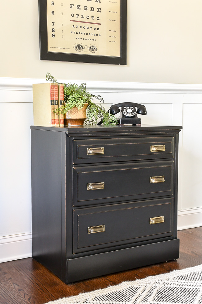 Goodwill dresser turned vintage inspired chest