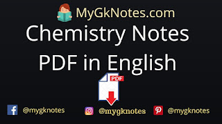 Chemistry Notes PDF in English