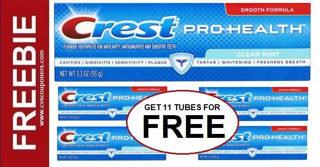 Grab 11 Crest Toothpaste for FREE at CVS