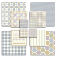 Fabric effect printable collage squares.