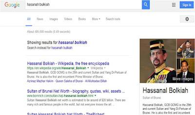 Hasanah Bulkiah, Bukan Sultan Brunei!