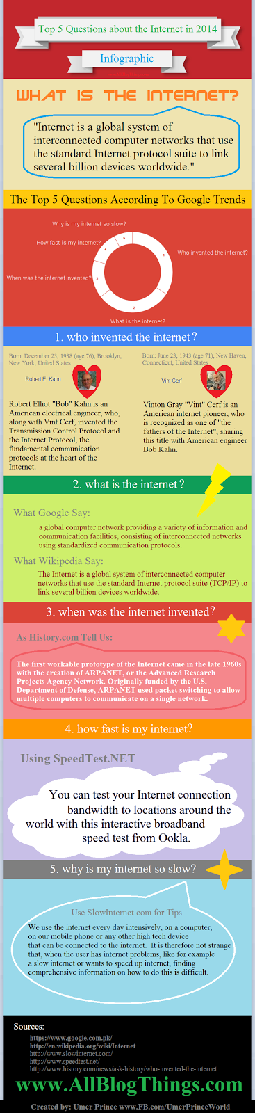 Top 5 Questions about the Internet in 2014 - #Infographic
