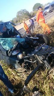 Micro-ônibus que faz a linha Cuité-Natal é atingido por gol, houve vítima fatal