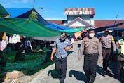 Kapolsek Baebunta Beri Himbauan Pencegahan Covid-19 Di Pasar Lara