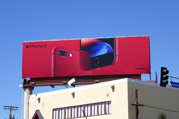 Apple iPhone 8 PRODUCT RED billboard