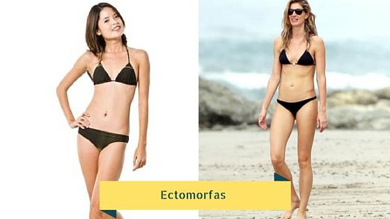 Mujeres con cuerpo ectomorfo.