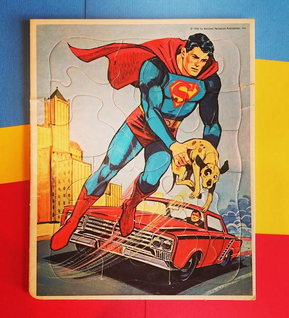 Whitman Superman frame tray puzzle