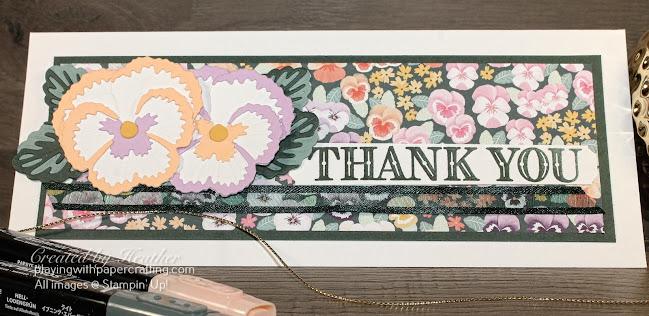 slimline pansy petals suite card 2