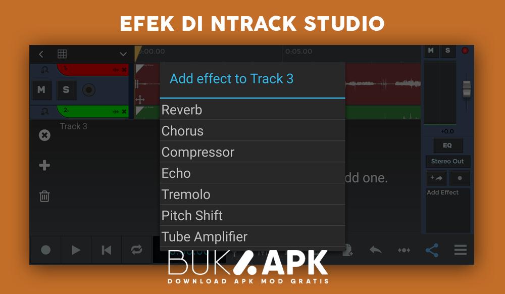Efek audio di ntrack studio MOD APK