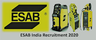 Job Openings for Diploma & ITI all trades in ESAB  India Limited Walk- in interview is on Saturday- 6th February 2021,