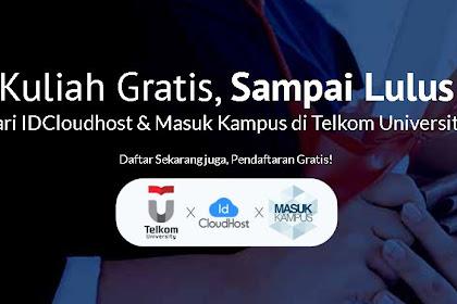 Beasiswa S1 Telkom University dari IDCloudHost