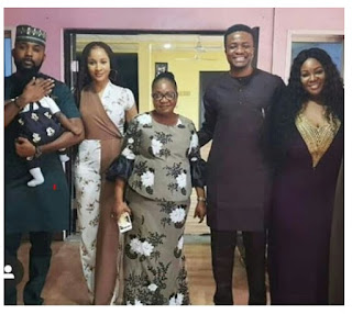 Adesua And Her Growing 'Baby Bump' Step Out For Toolz' Birthday Party