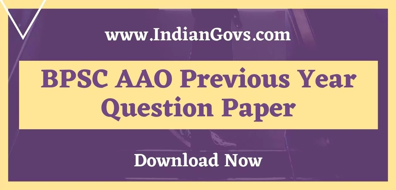 bpsc aao previous year question paper