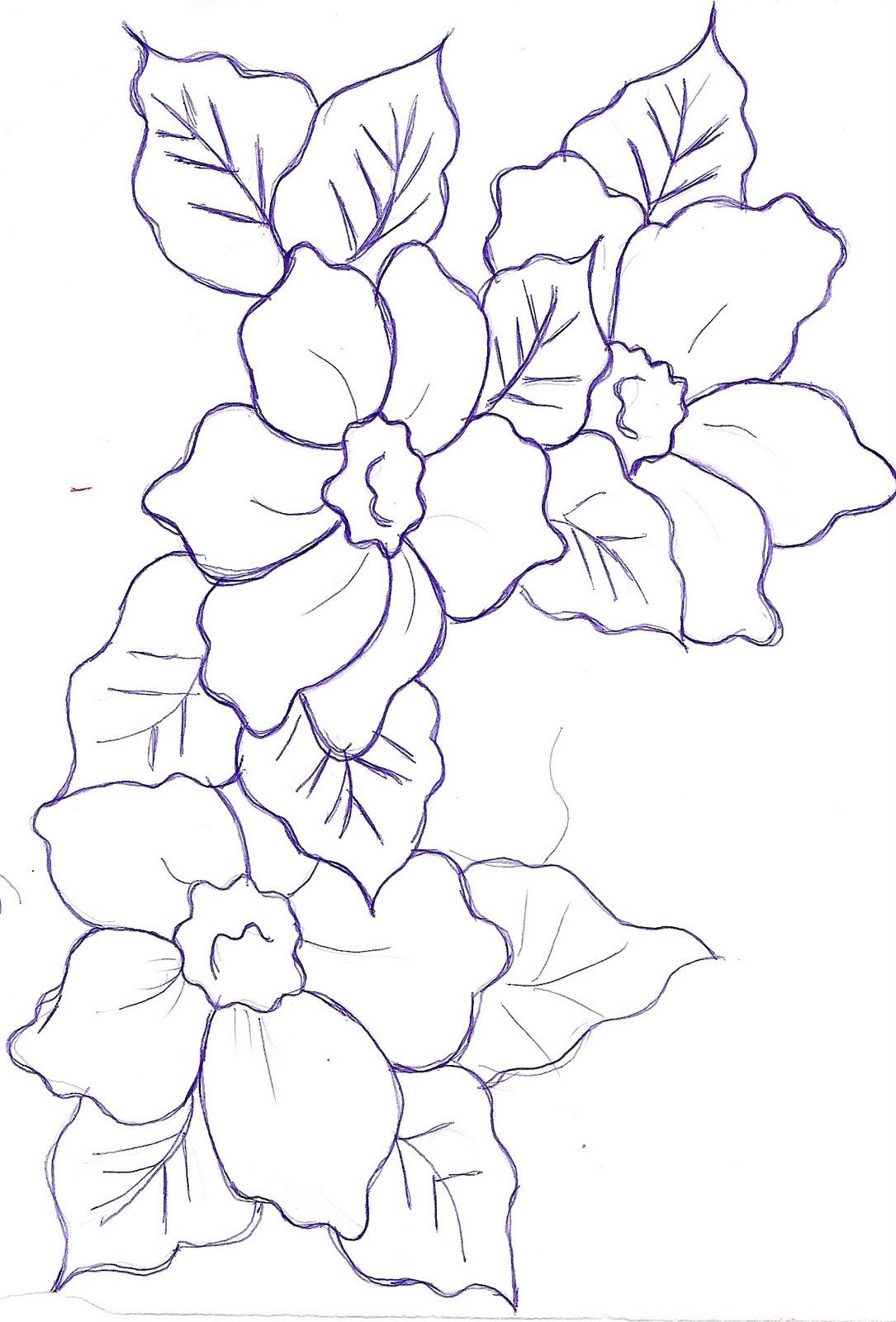 Flores Grandes Para Colorear