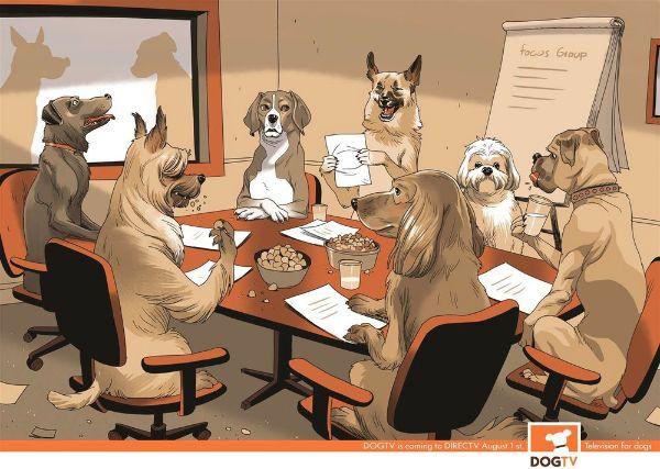 Asaf Hanuka - Illustration Design - Dogs Board Meeting