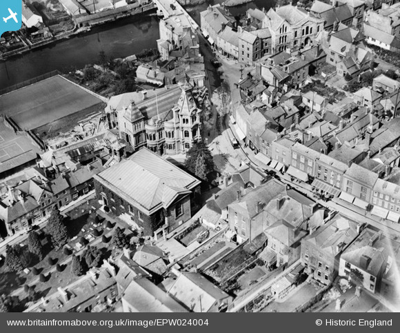 Aerial Photo of Town Hall and St George's Church 1928