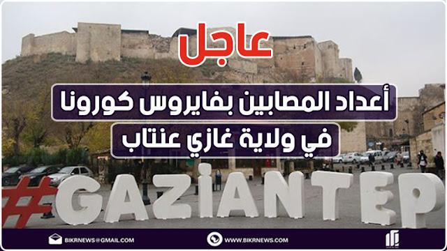 أعداد ومناطق المصابين بفايروس كورونا في ولاية غازي عنتاب
