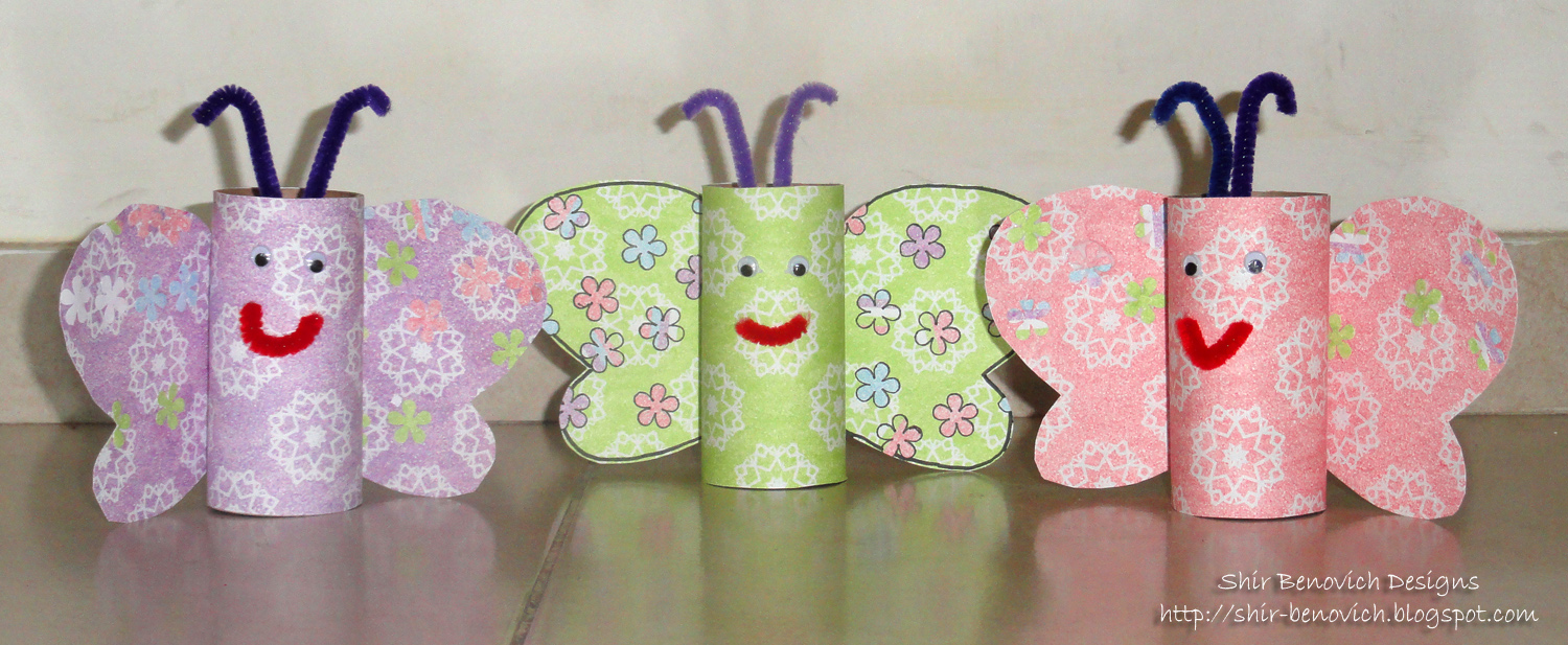 shir benovich designs craft with kids recycled butterflies. Black Bedroom Furniture Sets. Home Design Ideas