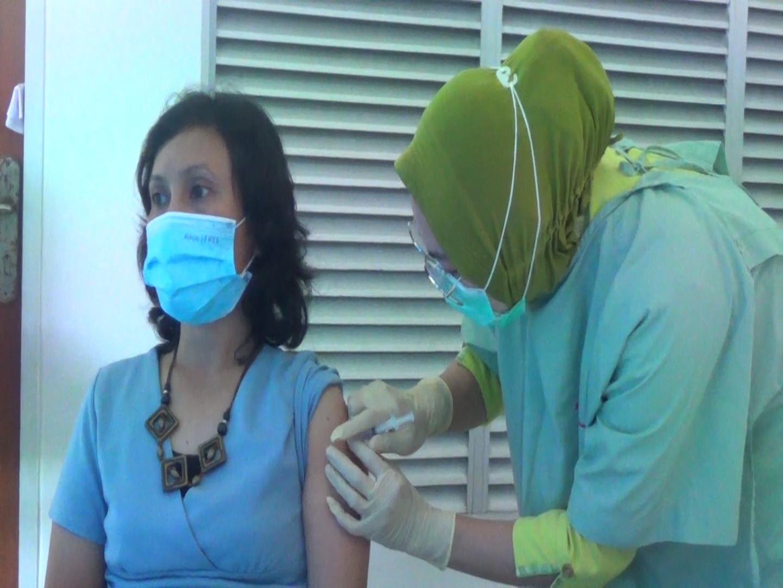Sebanyak 58 Wartawan Pengurus SMSI Kota Batam Disuntik Vaksin Covid-19