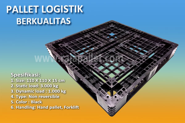 pallet plastik logistik 110 x 110 x 15 cm