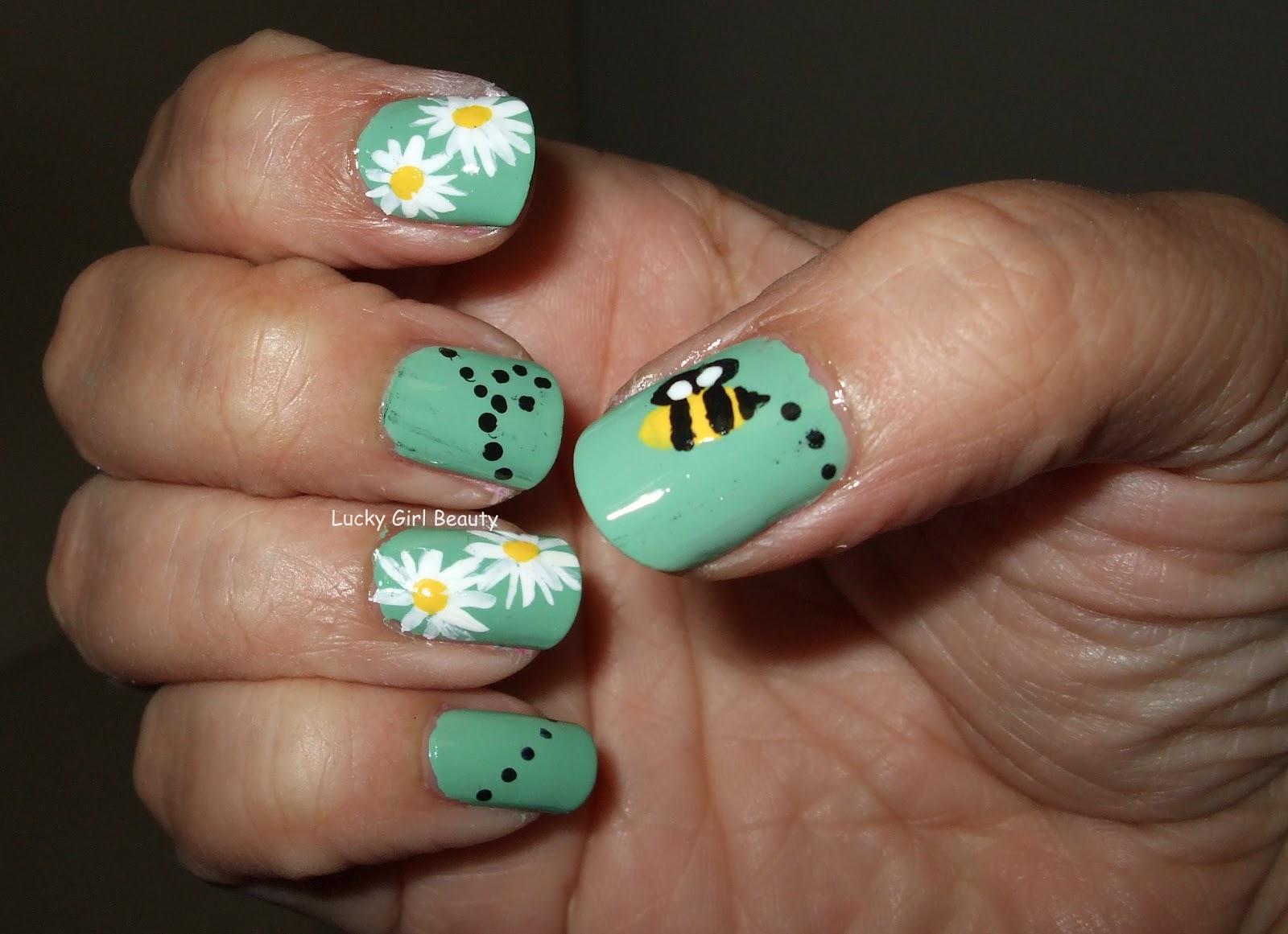 Lucky Girl Beauty: Spring Has Sprung Nail Design