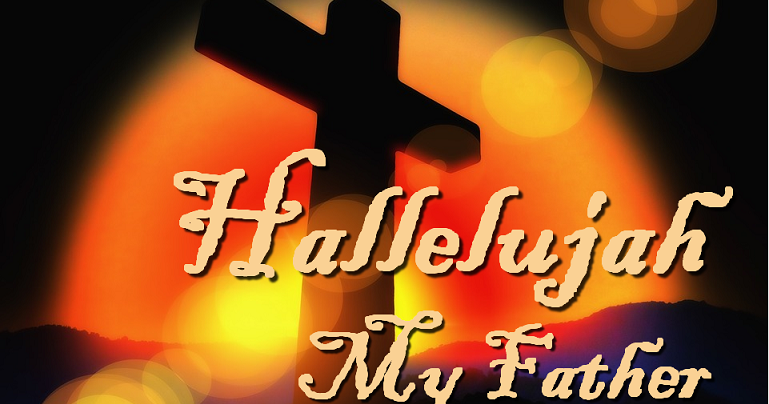 Enslig far synger hallelujah