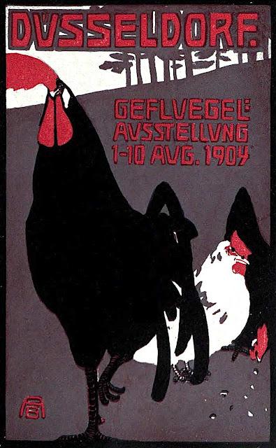B. Albers 1904 Dusseldorf Ausstellung rooster