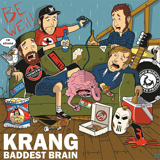 <center>KRANG stream new album 'Baddest Brain'</center>